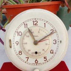 Relojes de pared: RELOJ PARED DIEHL CON AVISO- ALARMA MINUTERO CARGA MANUAL, FUNCIONA. Lote 226440465