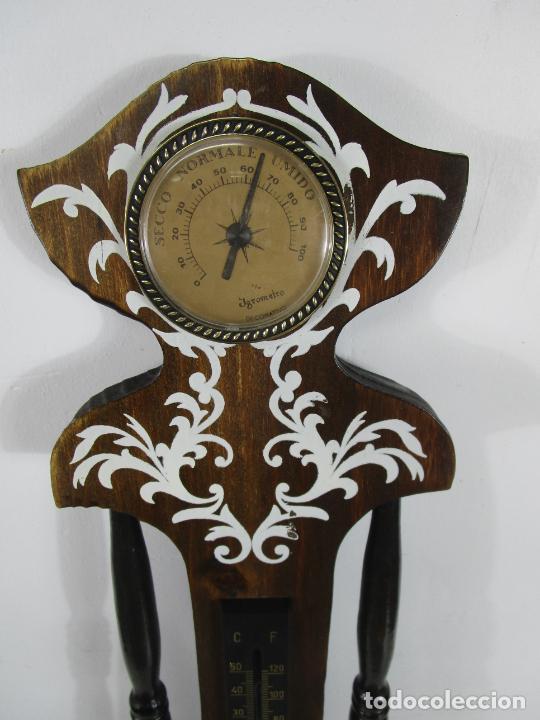 Relojes de pared: Reloj de Pared, Barómetro, Higrómetro, Termómetro - Excelente Decoración - con Caja - Años 70 - Foto 8 - 228098975