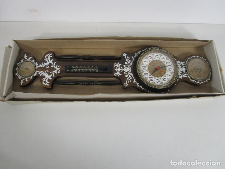 Relojes de pared: Reloj de Pared, Barómetro, Higrómetro, Termómetro - Excelente Decoración - con Caja - Años 70 - Foto 12 - 228098975