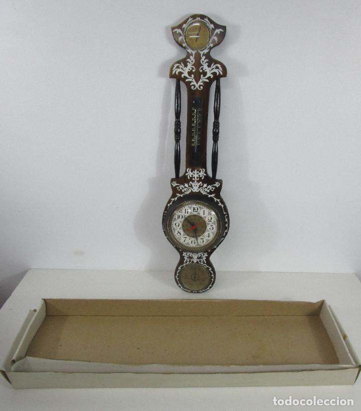 Relojes de pared: Reloj de Pared, Barómetro, Higrómetro, Termómetro - Excelente Decoración - con Caja - Años 70 - Foto 14 - 228098975