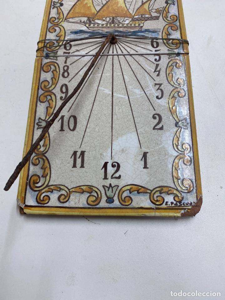Relojes de pared: Antiguo Reloj de sol - Foto 3 - 229636150