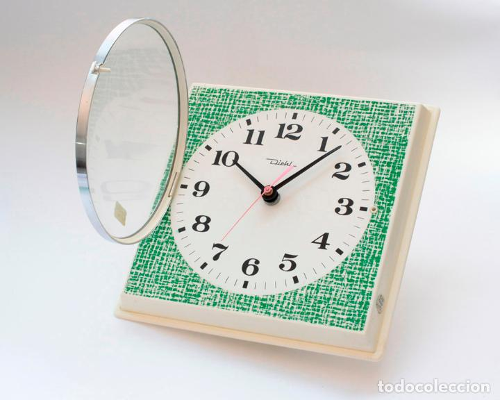 Relojes de pared: Reloj vintage de cocina o pared retro Diehl electromecánico, Nuevo de antiguo stock! Funciona. - Foto 4 - 230580850