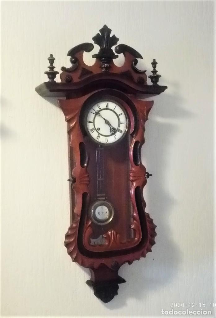 RELOJ DE PARED ESTILO BIEDERMEIER (Relojes - Pared Carga Manual)