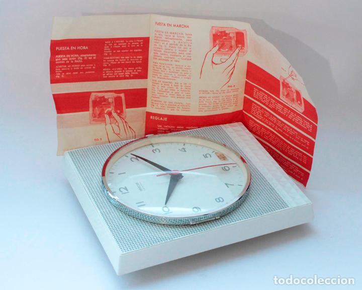 Relojes de pared: Reloj vintage de cocina o pared Gong electromecánico, Nuevo de antiguo stock! Funciona y se para - Foto 5 - 231230410