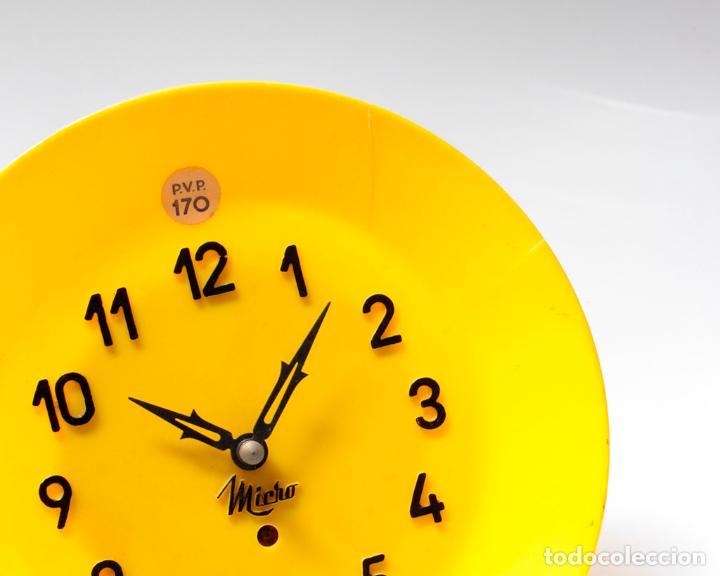 Relojes de pared: Reloj vintage de cocina o pared Micro mecánico plato, de antiguo stock! NO Funciona. ver fotos - Foto 4 - 231512235
