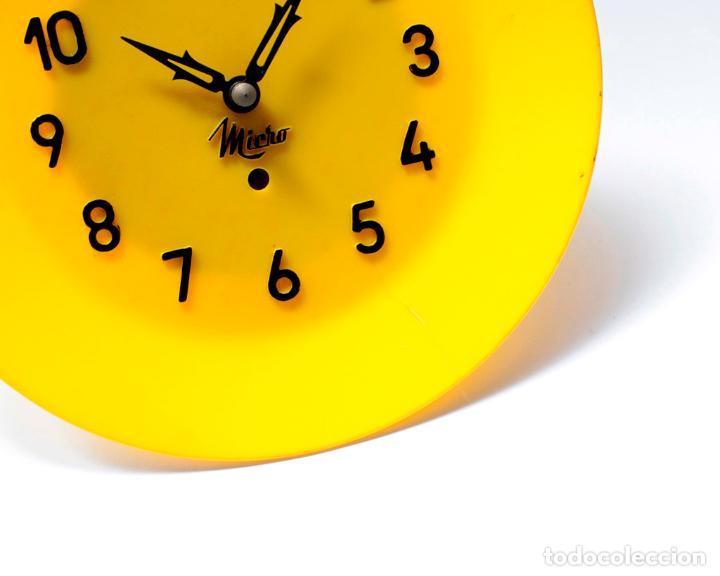 Relojes de pared: Reloj vintage de cocina o pared Micro mecánico plato, de antiguo stock! NO Funciona. ver fotos - Foto 5 - 231512235