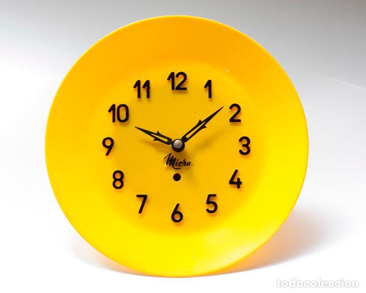 Relojes de pared: Reloj vintage de cocina o pared Micro mecánico plato, de antiguo stock! NO Funciona. ver fotos - Foto 3 - 231512425