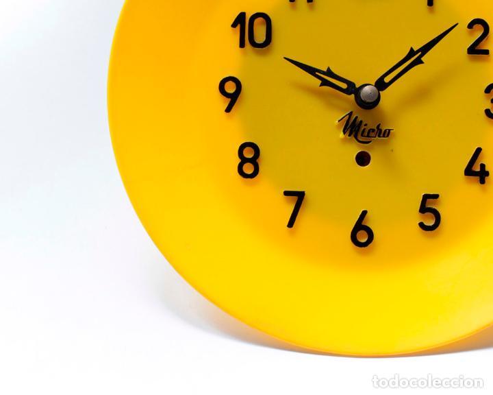 Relojes de pared: Reloj vintage de cocina o pared Micro mecánico plato, de antiguo stock! NO Funciona. ver fotos - Foto 4 - 231512425