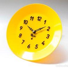 Relojes de pared: RELOJ VINTAGE DE COCINA O PARED MICRO MECÁNICO PLATO, DE ANTIGUO STOCK! NO FUNCIONA. VER FOTOS. Lote 231512425