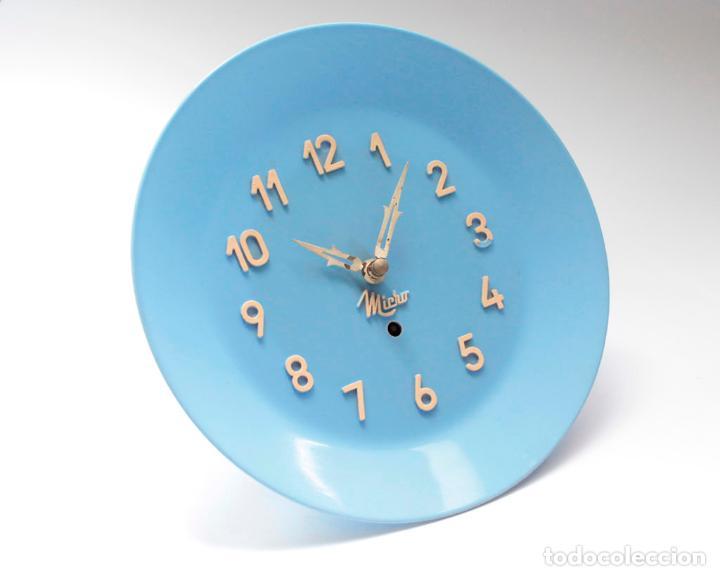 Relojes de pared: Reloj vintage de cocina o pared Micro mecánico plato, de antiguo stock! NO Funciona. ver fotos - Foto 2 - 231512770