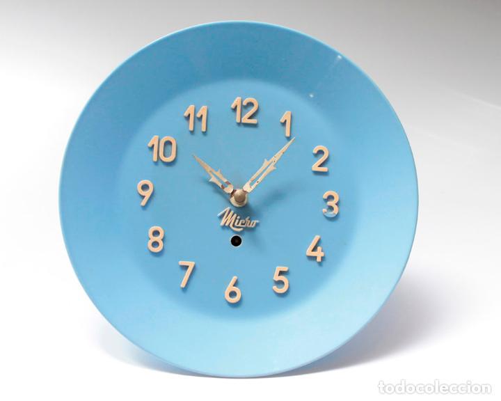 Relojes de pared: Reloj vintage de cocina o pared Micro mecánico plato, de antiguo stock! NO Funciona. ver fotos - Foto 3 - 231512770