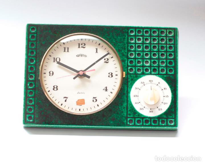 Relojes de pared: Reloj vintage de cocina con temporizador SARS electromecánico de porcelana, NOS!. Funciona. - Foto 3 - 231520505