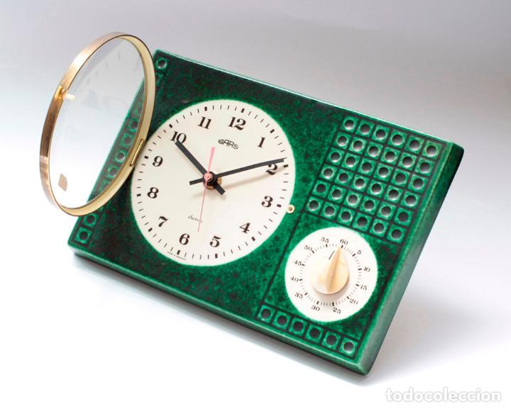 Relojes de pared: Reloj vintage de cocina con temporizador SARS electromecánico de porcelana, NOS!. Funciona. - Foto 4 - 231520505