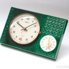 Relojes de pared: RELOJ VINTAGE DE COCINA CON TEMPORIZADOR SARS ELECTROMECÁNICO DE PORCELANA, NOS!. FUNCIONA.. Lote 231520505