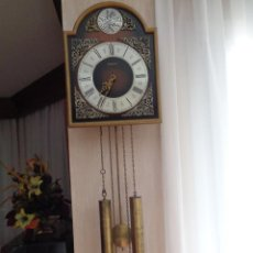Relojes de pared: RELOJ PARED RADIANT TEMPUS FUGIT MAQUINARIA ALEMANA. Lote 233280665