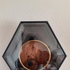 Relojes de pared: CAJA PARA RELOJ DE OJO DE BUEY CON CRISTAL Y SU GONG (PARA RESTAURAR O PIEZAS) SIGLO XIX. Lote 234297050