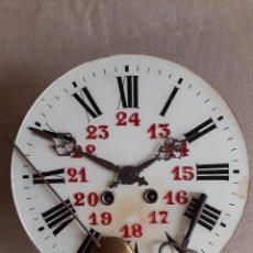 Relojes de pared: MÁQUINA PARIS, LLAVE, AGUJAS, ESFERA Y CHAPA DE ESFERA PARA OJO DE BUEY. Lote 234372020