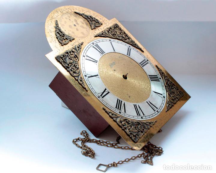 Relojes de pared: Reloj vintage de pared Alemán Schatz de pesas, antiguo stock! Ver fotos. - Foto 3 - 234909230