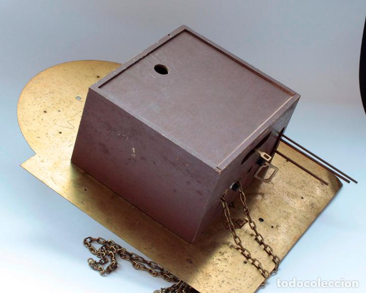 Relojes de pared: Reloj vintage de pared Alemán Schatz de pesas, antiguo stock! Ver fotos. - Foto 5 - 234909230