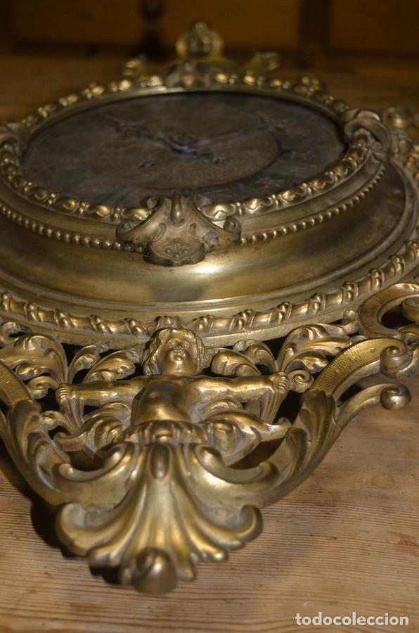 Relojes de pared: RELOJ ANTIGUO DE PARED GUSTAV BEQUER - 52cm - BRONCE MACIZO - RESTAURAR - Foto 15 - 184183228