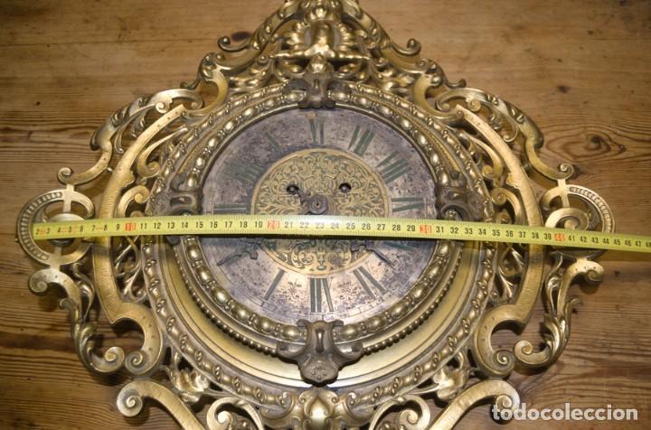 Relojes de pared: RELOJ ANTIGUO DE PARED GUSTAV BEQUER - 52cm - BRONCE MACIZO - RESTAURAR - Foto 16 - 184183228