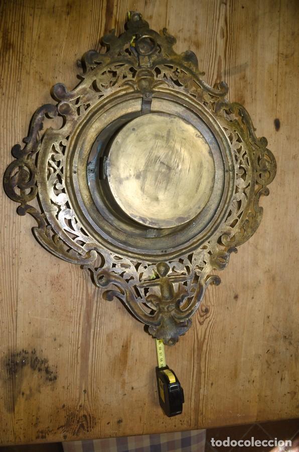 Relojes de pared: RELOJ ANTIGUO DE PARED GUSTAV BEQUER - 52cm - BRONCE MACIZO - RESTAURAR - Foto 17 - 184183228