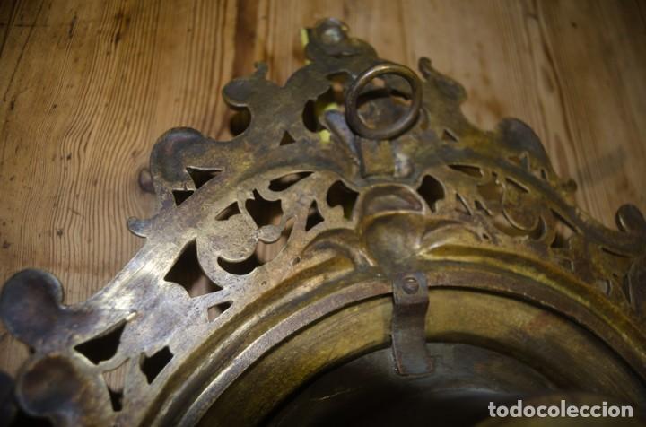 Relojes de pared: RELOJ ANTIGUO DE PARED GUSTAV BEQUER - 52cm - BRONCE MACIZO - RESTAURAR - Foto 18 - 184183228