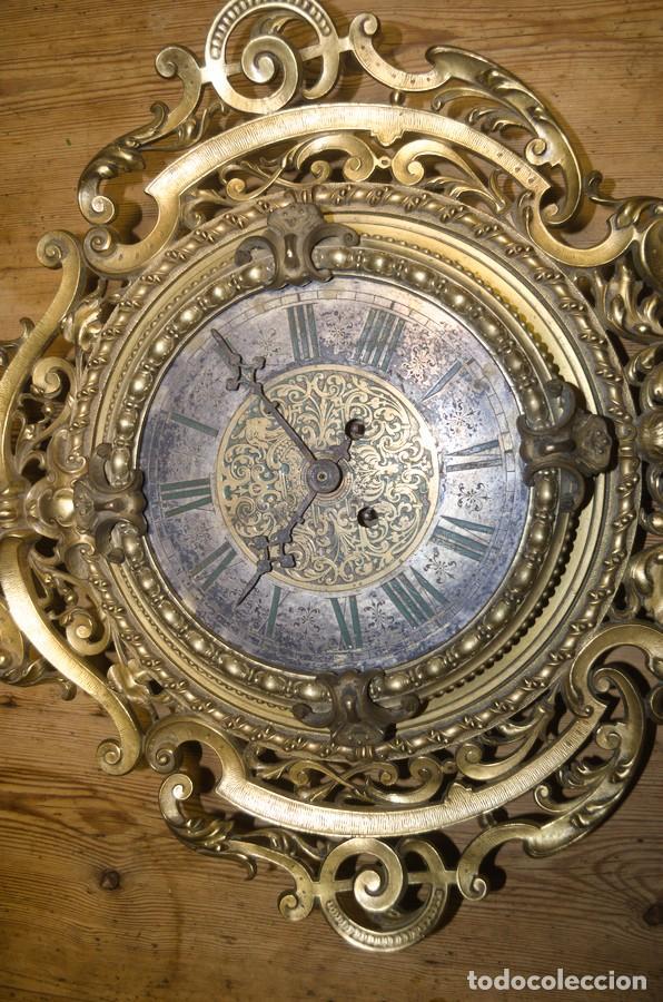 Relojes de pared: RELOJ ANTIGUO DE PARED GUSTAV BEQUER - 52cm - BRONCE MACIZO - RESTAURAR - Foto 21 - 184183228