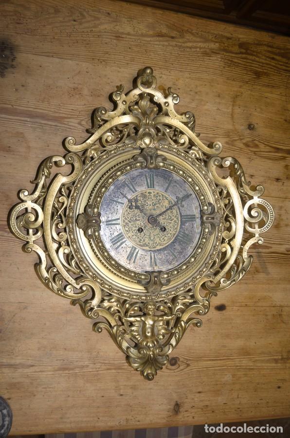 Relojes de pared: RELOJ ANTIGUO DE PARED GUSTAV BEQUER - 52cm - BRONCE MACIZO - RESTAURAR - Foto 22 - 184183228
