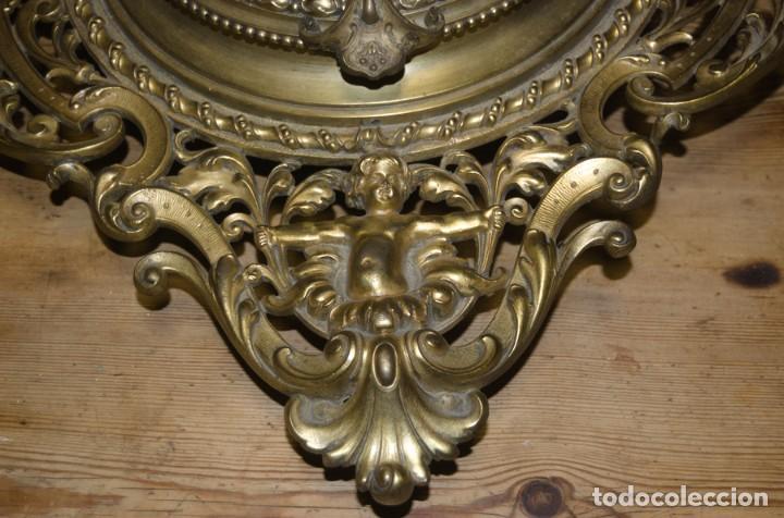 Relojes de pared: RELOJ ANTIGUO DE PARED GUSTAV BEQUER - 52cm - BRONCE MACIZO - RESTAURAR - Foto 23 - 184183228