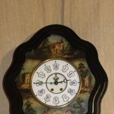 Relojes de pared: RELOJ DE PARED.OJO DE BUEY.INCRUSTACIONES DE NACAR.NAPOLEÓN III.FRANCIA.S XIX.. Lote 235129890