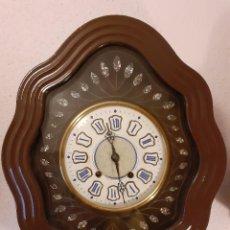 Relojes de pared: RELOJ OJO DE BUEY PRECIOSO MÁQUINA MOREZ SIGLO XIX FUNCIONANDO. Lote 235167625