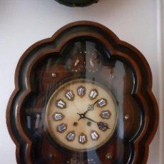 Relojes de pared: RELOJ OJO DE BUEY PRECIOSO MÁQUINA PARIS ESFERA ALABASTRO SIGLO XIX FUNCIONANDO. Lote 235271450
