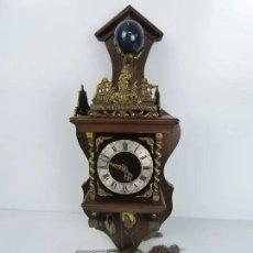 Relojes de pared: ANTIGUO RELOJ HOLANDES ZAANCE. Lote 235851615