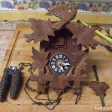 Relojes de pared: ANTIGUO CUCO DE MADERA SELVA NEGRA DE ALEMANIA- LOTE 349- COMPLETO A RESTAURAR. Lote 236241050
