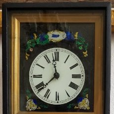 Relojes de pared: RELOJ RATERA PEQUEÑO TIPO RAHMENUHR- SEGUNDA MITAD SIGLO XIX. Lote 237203305
