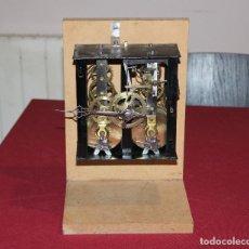 Relojes de pared: ANTIGUA MAQUINA RELOJ MOREZ - OJO DE BUEY - ULL DE BOU - FUNCIONA. Lote 238182430