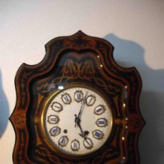 Relojes de pared: RELOJ DE PARED OJO BUEY MARQUETERIA. Lote 238491830