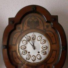 Relojes de pared: RELOJ OJO DE BUEY ISABELINO MÁQUINA MOREZ SIGLO XIX FUNCIONANDO. Lote 238750320