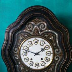 Relojes de pared: RELOJ OJO DE BUEY ANTIGUA CON NÁCAR. PRECIOSO !. Lote 240515305