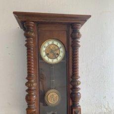 Relojes de pared: RELOJ CARRILLON MADERA NOGAL PPIO S XX ART NOUVEAU PENDULO PERSONAJES ANDALUCES TULIPANES 80 X40C. Lote 240821015