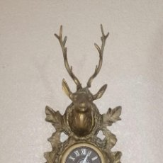 Relojes de pared: RELOJ SELVA NEGRA. BRONCE MACIZO. MOVIMIENTO DE CUCO.. Lote 243129790