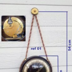 Relojes de pared: RELOJ DE PARED VINTAGE, ZENTRA, DE CORDÓN CON GONG, REF 01. Lote 243248695