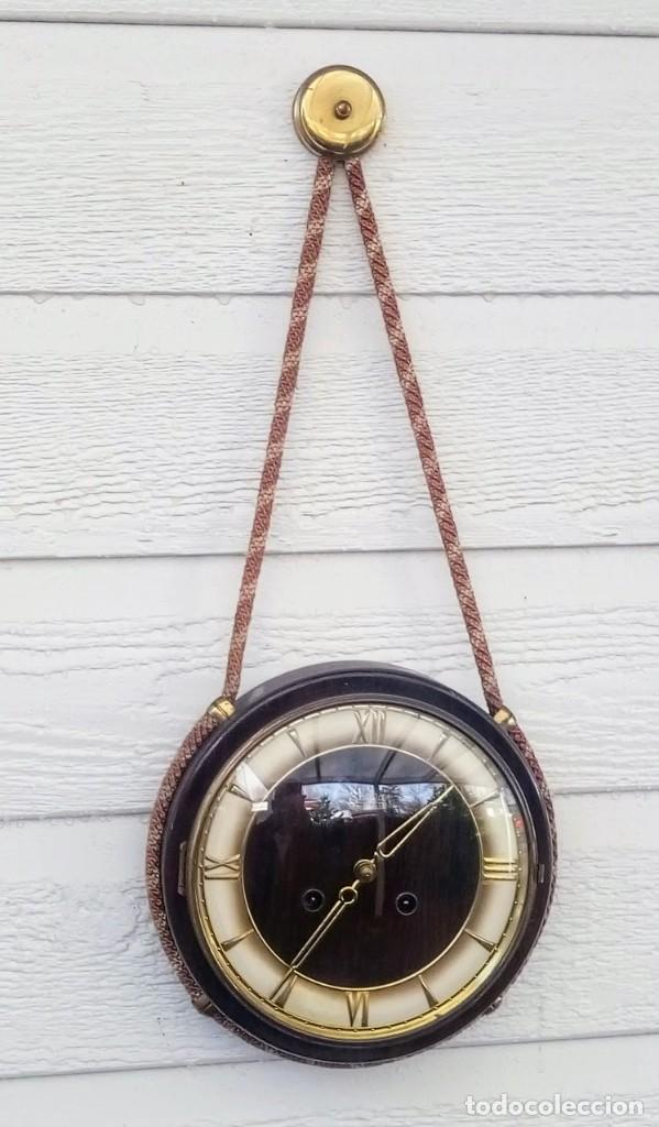 Relojes de pared: Reloj de pared vintage, Zentra, de cordón con gong, ref 01 - Foto 2 - 243248695