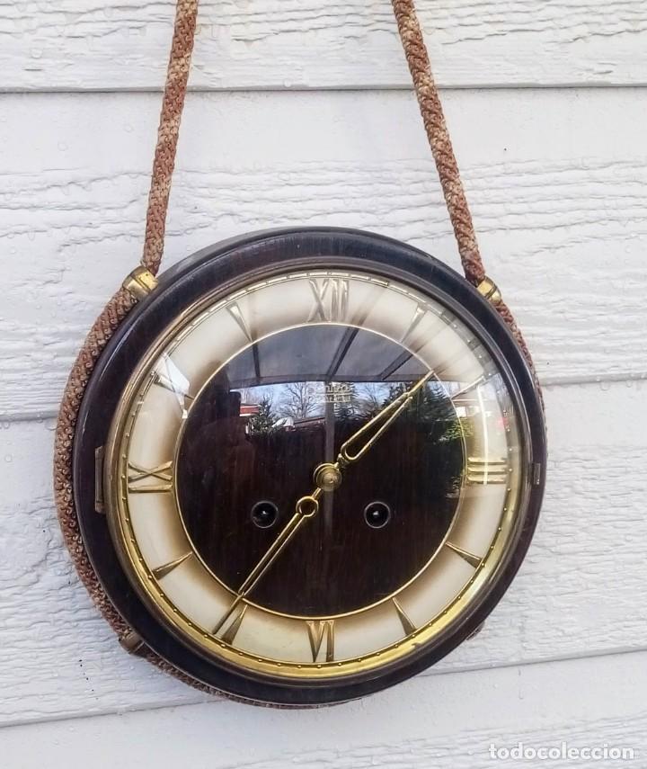 Relojes de pared: Reloj de pared vintage, Zentra, de cordón con gong, ref 01 - Foto 3 - 243248695