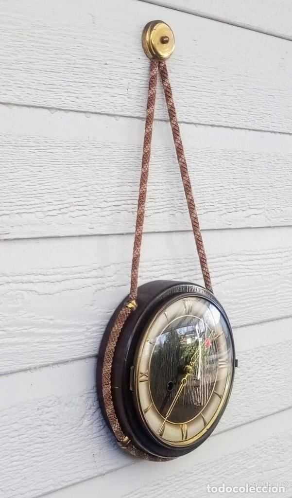 Relojes de pared: Reloj de pared vintage, Zentra, de cordón con gong, ref 01 - Foto 4 - 243248695