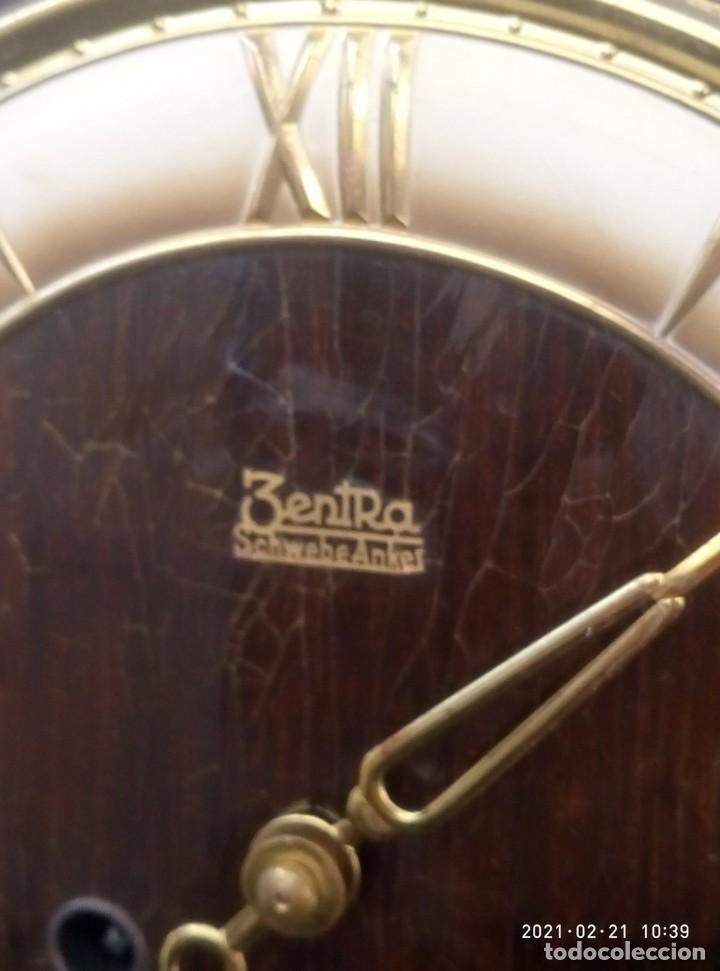 Relojes de pared: Reloj de pared vintage, Zentra, de cordón con gong, ref 01 - Foto 9 - 243248695