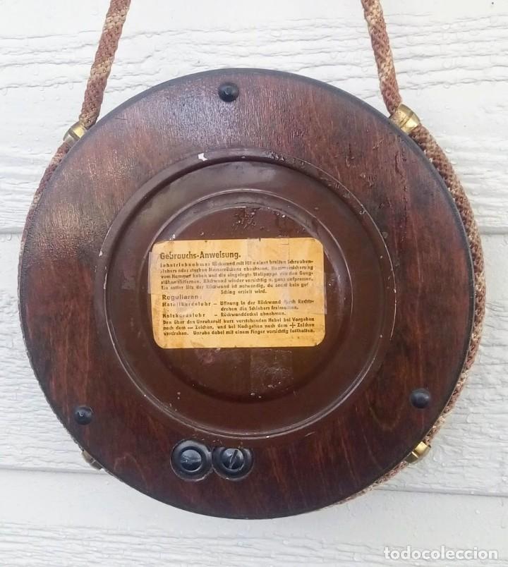 Relojes de pared: Reloj de pared vintage, Zentra, de cordón con gong, ref 01 - Foto 10 - 243248695