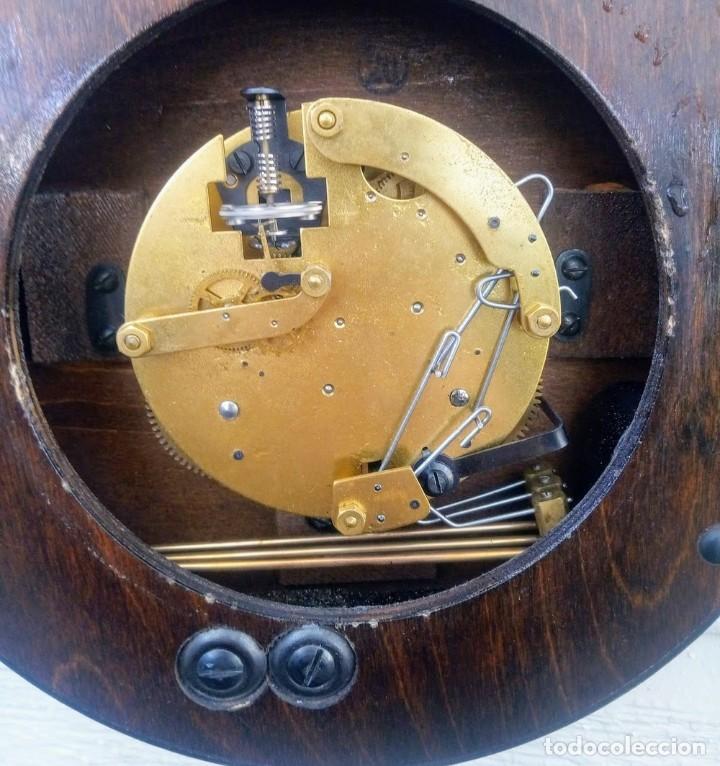 Relojes de pared: Reloj de pared vintage, Zentra, de cordón con gong, ref 01 - Foto 12 - 243248695