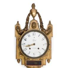 Relojes de pared: RELOJ DE CARTEL SUIZO DEL SIGLO XVIII C.1780. Lote 244445545